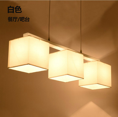 Nordic modern minimalist fabic lampshade pendant light for bedroom study living room lamp