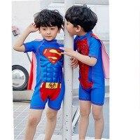 Papa Chen Neueste Kinder Bademode One Piece Minions Badeanzug Batman Schwimmen Jungen Captain America Kinder Sport Beachwear