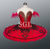 Ballet Red Tutu Dance Stage Costumes Classical Ballet Tutu Adult Women Girls Kids Size Hard Tulle Skirts Tutu For Sale AT1145