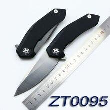 2016 NEW ZT0095 9Cr18MoV blade G10 handle ball Bearing folding knife camping hunting outdoor survival pocket knives EDC tool F95