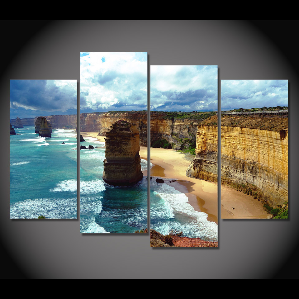 Wall Prints For Living Room Australia Us 28 99 Print Canvas Painting Twelve Apostles Australia Wall Art Picture Bar Cafe Home Decoration Living Room Free Shipping Xa273 In Painting
