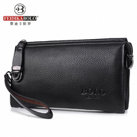 Men S New Design Brand Long Luxury Clutch Fashion Male Zipper Purse Genuine Leather Portemonne
