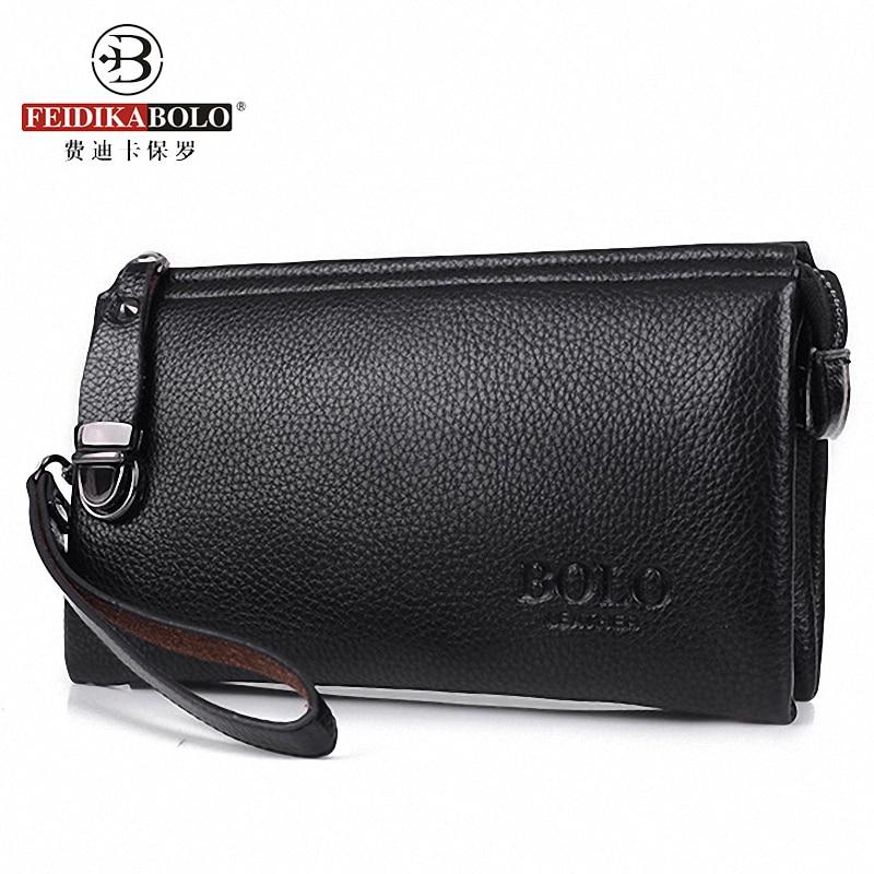 Fashion Famous Brand Men Wallet Luxury Long Mens Clutch Bags Male Monederos Purse Leather Portemonne carteira masculina