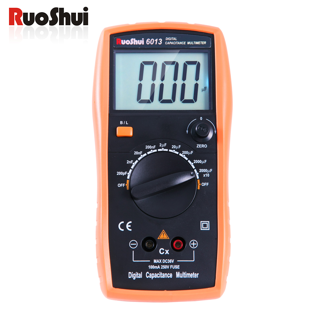 6013 Victor RuoShui Digital Capacitance Meter Manual Range 2000 counts Capacitor Tester 20000uF цена