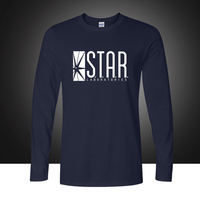 TV Star Laboratories T Shir The Flash S T A R LABS Men S Long Sleeve