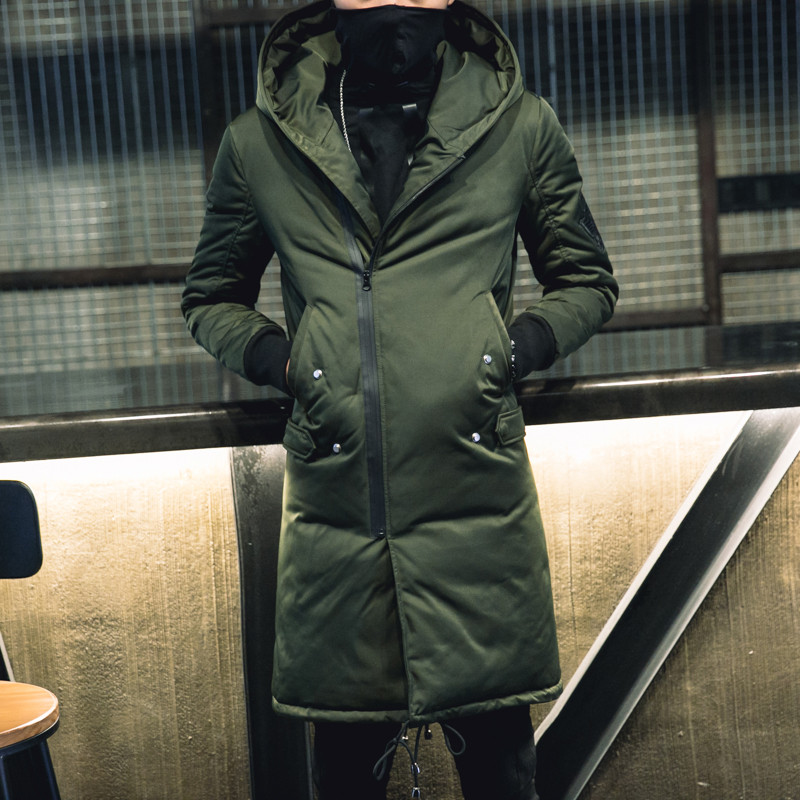 TEAEGG 2019 зимняя мужская куртка с хлопковой подкладкой, манто Hiver Homme, черная Теплая мужская зимняя парка с капюшоном, мужские куртки, верхняя одежда AL377 - 5