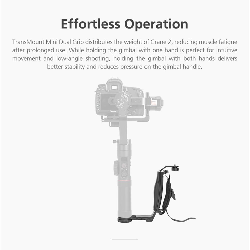 ZHIYUN Official Crane 2 Gimbal Accessories L Bracket TransMount Mini Dual Grip for LED Light/Microphone/Monitor 2