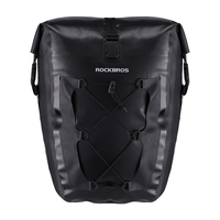 ROCKBROS Waterproof Cycling Bag 27L Travel Bicycle Bag Rear Rack Tail Seat Trunk Bags Pannier MTB