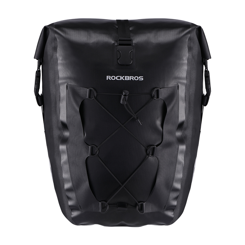 ROCKBROS Waterproof Cycling Bag 27L Travel Bicycle Bag Rear Rack Tail Seat Trunk Bags Pannier MTB Mountain Bike Accessories rockbros 12l outdoor bicycle bag 3 in 1 cycling rear rack trunk travel bag pannier rain cover bike bag accessories 3 colors