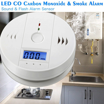 Profession Home Safety CO Carbon Monoxide Poisoning Smoke Gas Sensor Warning Alarm Detector LCD Displayer Kitchen Concentration Meters
