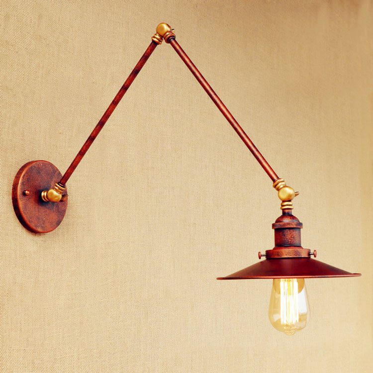 30cm Adjustable Swing Long Arm Wall Light Fixtures Loft Industrial Vintage Wall Lamp LED ...