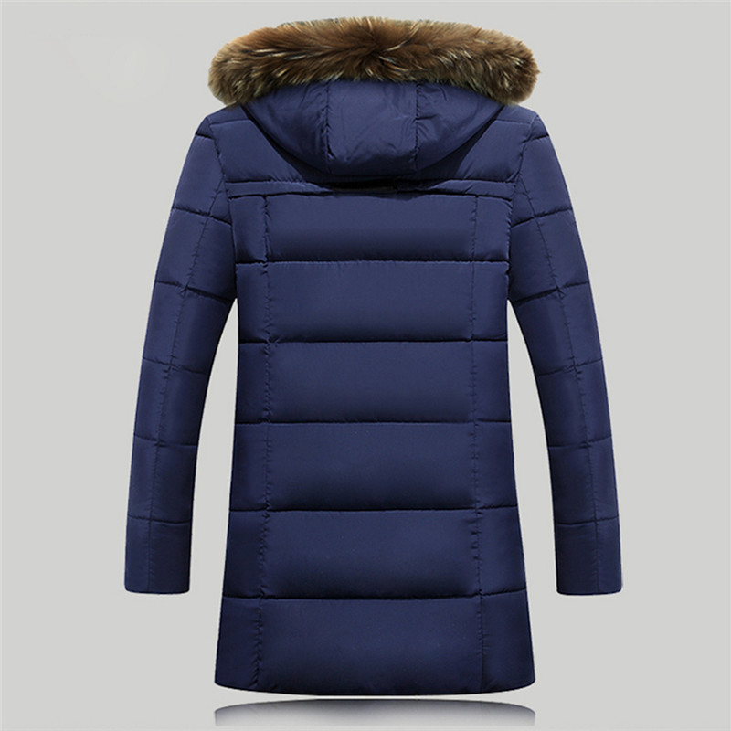 XiaoTianXinMen XTX Men Stand Collar Winter Solid Color Down Quilted Puffer Jacket Coat Outerwear 1 L