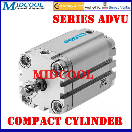 63mm Bore 35mm Stroke G1/8 Pneumatic Air Compact Cylinder ADVU-63-35-P-A Double acting Festo Type Female thread63mm Bore 35mm Stroke G1/8 Pneumatic Air Compact Cylinder ADVU-63-35-P-A Double acting Festo Type Female thread