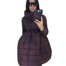 Winter Coat Women Skirt Parka Fashion Bowknot Waist Medium L