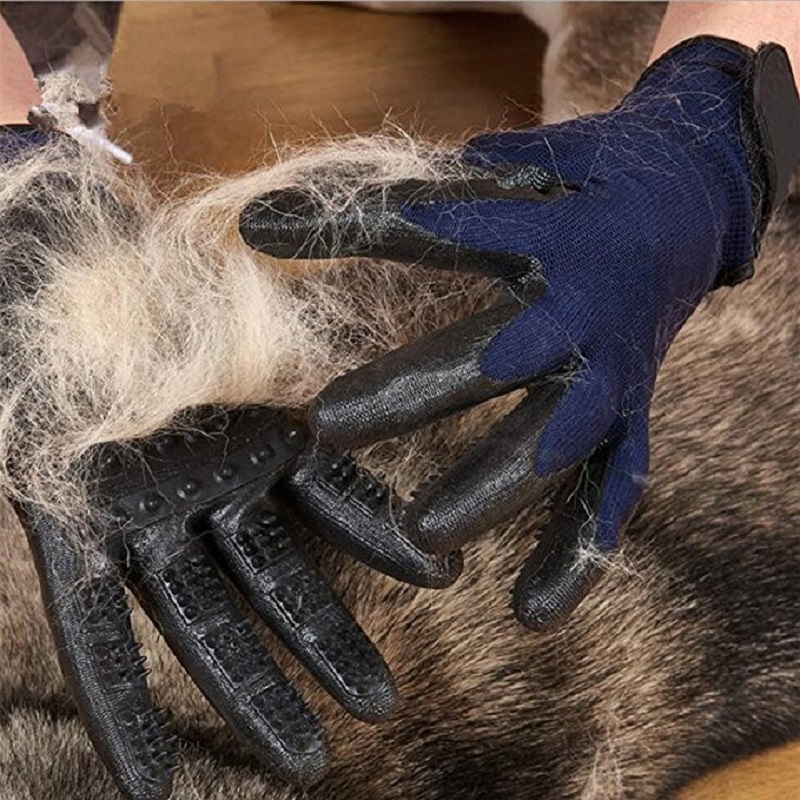 Five Fingers Pet Grooming Gloves for Cleaning and Removal of Dogs and Cats Hair Made of Rubber Useful for Animal Bathing 7