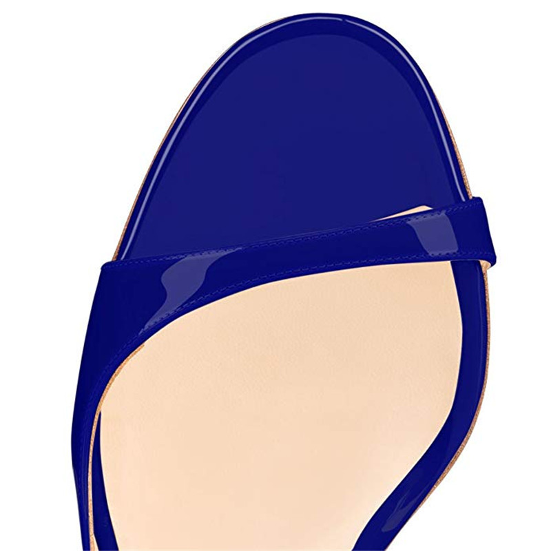 Marque Conception Femmes Mince blanc Apricot Yellow pièce Karinluna De neon bleu Mode red or 2019 Femme Plus D'été noir Taille Sexy Partie Sandales 45 Deux Chaussures Pompes Talons Haute Zq1nx1w47