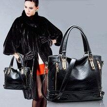 Women Fashion women's Leather Fashion Handbag Large messenger bag vintage women's Casual Shoulder bags motorcycle Bolsa Feminina
