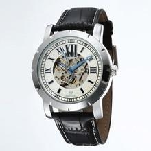 GOER марка Мужской механические наручные часы Водонепроницаемые спортивной Моды полностью автоматические мужские часы Световой кожа