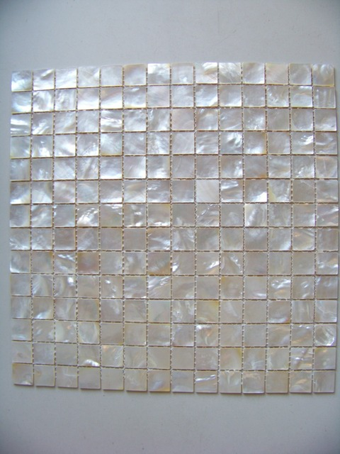 20mm Pure White Shell Mosaic Tiles Pearl For Kitchen Backsplash Bathroom Tile Mother Of
