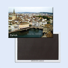 Tourist Refrigerator Magnets 78*54mm,Zurich Switzerland Travel Rigid Fridge 20900