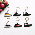 Mini Silicone YEEZY BOOST 350 V2 Key Chain For Kids Man Women Key Rings Key Holder Gift Sneaker SPLY-350 Keychain