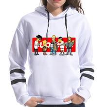Spring Female Long Sleeve Simpson Print Hooded Fashion Haraj