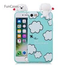 Panda hermosa caja del teléfono Celular iPhone 7 suave cubierta de silicona Balr Animal teléfono Etui para el iPhone 8 cove telefono