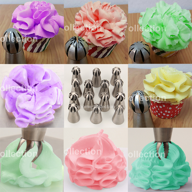 1peace Ball Shape Stainless Steel Russian Icing Piping Nozzles – 14 Styles available