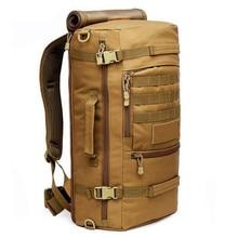 Populares ejército mochila de viaje 60L mochila de alta calidad mochila portátil de nylon impermeable de múltiples funciones de gran capacidad bolsas de viaje
