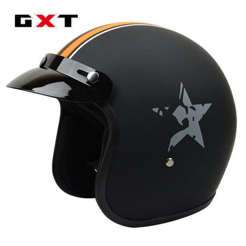 2018 Half Open Face Motorcycle Fiberglass Helmet Unisex Racing Sport Headgear Vintage Head Harley Motorbike Women
