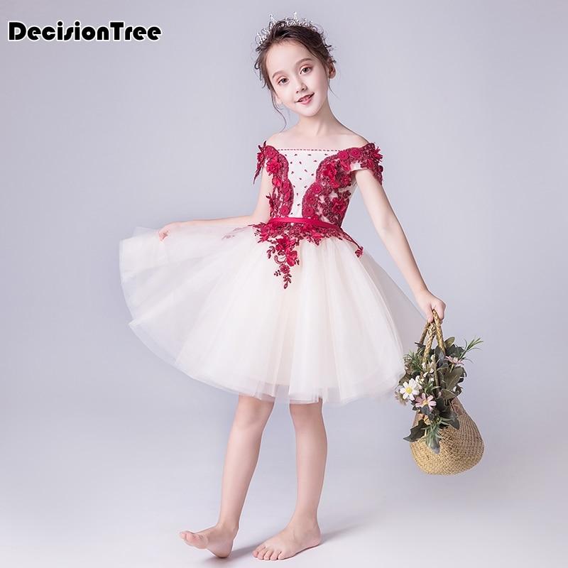 2019 new fancy butterfly kids girl wedding flower girls dress princess party pageant formal dress prom little baby girl dress
