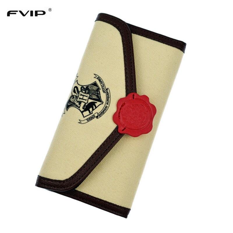 Fvip harry potter hogwarts letter flap wallet hasp canvas for Harry potter letter purse