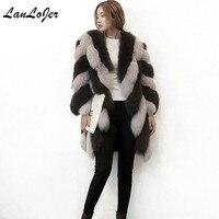 Women's Fur Coats Faux Fur Bomber Coat Artificial Fox Fur Ladies Long Sleeves Mink Fur Jacket Winter Warm Long Hair Trench Coat