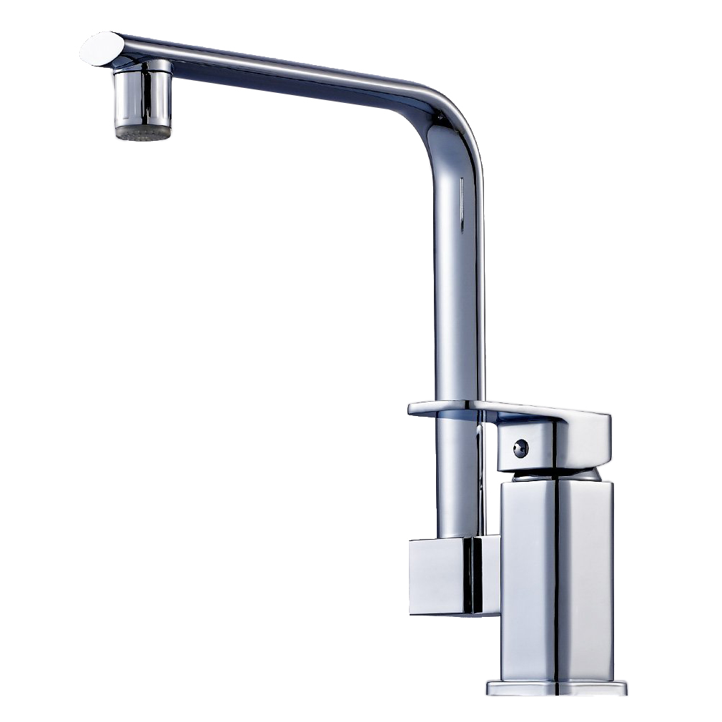 Chromed Bathroon Sink Faucet With Temperature Control: RGB LED Temperature Control Chrome Mixer Tap Single Lever