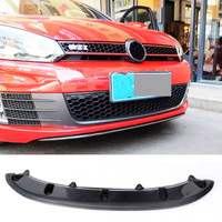 Carbon Fiber Auto car Front Bumper Diffuser Lip For VW Golf 6 MK6 GTI Bumper 2010 2011 2012 2013