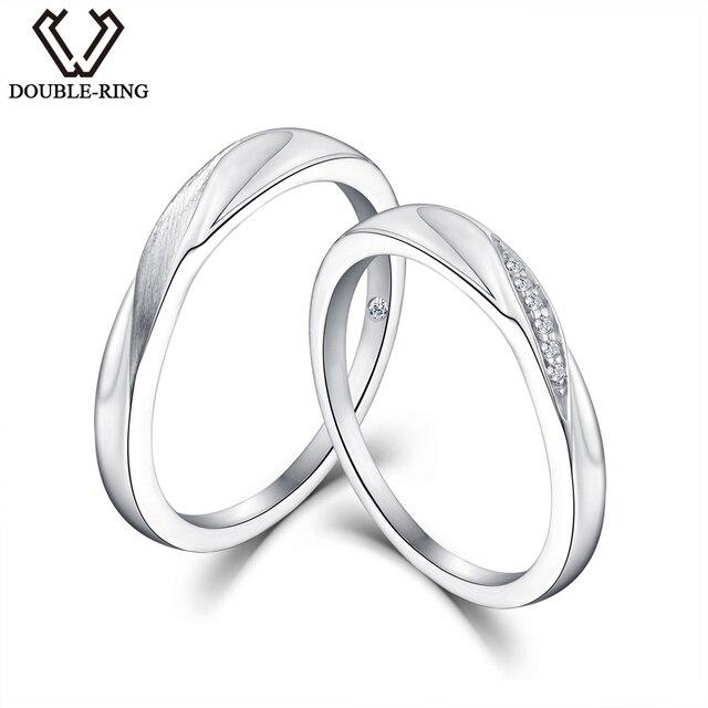 алмаз Дважды R природных кольцо с бриллиантом 925 серебро Обручение кольцо алмазная
