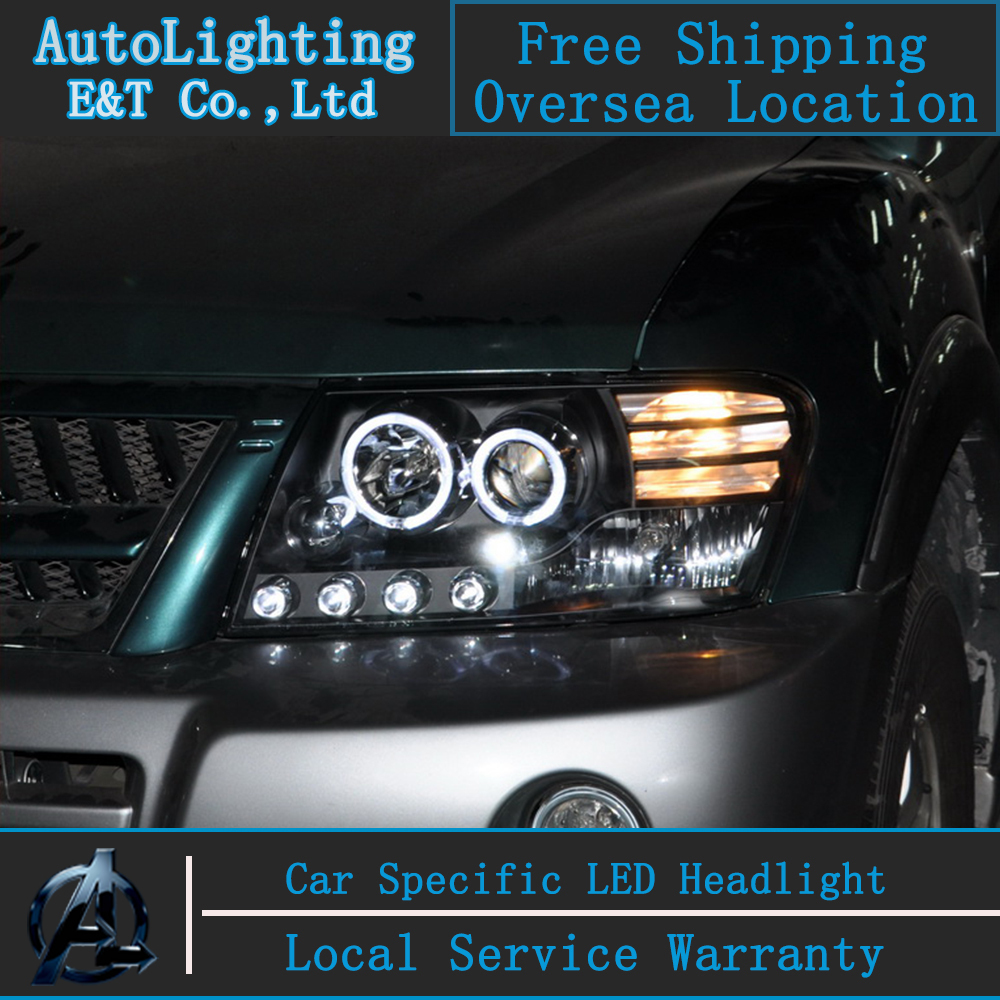 Car Styling Head Lamp for Mitsubishi Pajero headlights Pajero V73 led headlight turn signal drl H7 hid Bi-Xenon Lens low beam auto clud style led head lamp for benz w163 ml320 ml280 ml350 ml430 led headlights signal led drl hid bi xenon lens low beam