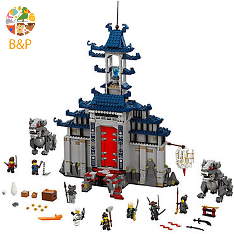lepin Legoing 70617 1501pcs Ninjago Series Temple of The Ultimate Weapon Building Blocks Brick Toys For Children 06058 lepin legoing 70612 592pcs ninjago series the green ninja mech dragon building blocks brick educational toys for children 06051