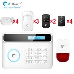 E-tiger 433 mhz drzwi lub okna otwarty alarm ruchu człowieka alarm wsparcie angielski/francuski/niemiecki/ hiszpański/włoski bezpieczeństwa w domu system