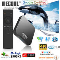 KM9 Pro Android 9.0 Smart TV Box Voice Control S905X2 4GB DDR4 RAM 32GB ROM 2.4G/5G WiFi Bluetooth 4K TV Box Mecool Set Top Box