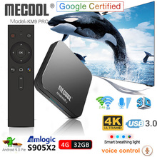 KM9 Pro Android 9.0 Smart TV Box Voice Control S905X2 4GB DD