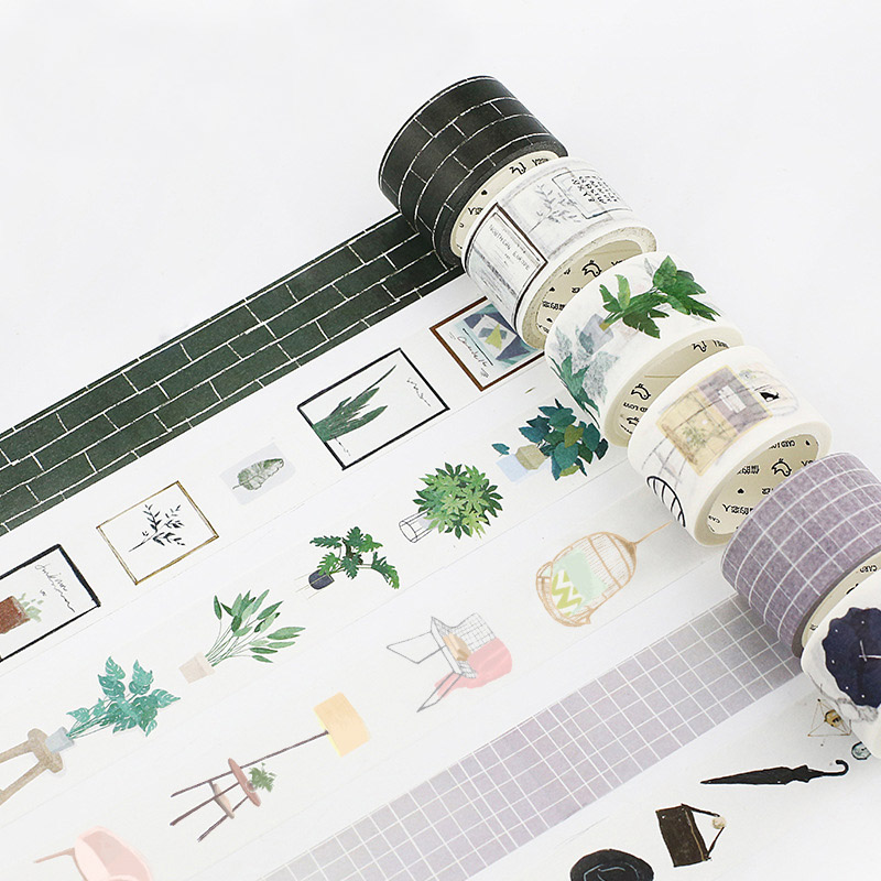 Cute Girl And Boy Masking Washi Tape DIY Plant Decorative Tape For Home Decoration Scrapbooking Free Shipping