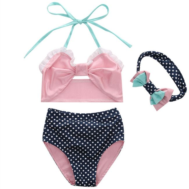 Bikini Set baby little girls bow Fringe string Bikini swim bathing suit for kid high waist Swimwear