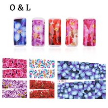 font b Nail b font Water Stickers 12pcs Flower Butterfly Design Glitter Transfer font b
