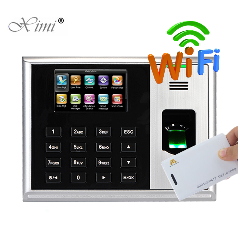 Fingerprint And RFID Card Time Attendance Time Clock With WIFI ZK S30 Fingerprint Time Recording With Free Software And SDK