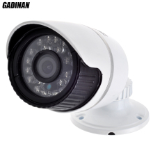 1920*1080 P 2MP ONVIF 2.0 Impermeable Al Aire Libre IR CUT Visión Nocturna P2P Plug and Play 6mm Lente Caja de Metal Mini Cámara Bullet IP