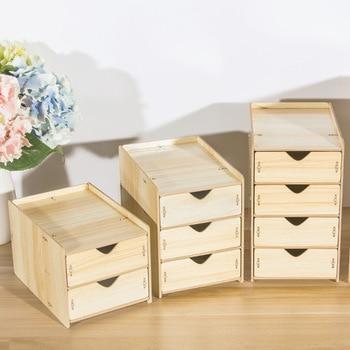Coloffice Wooden multi-layer drawer cabinets cabinets desktop finishing storage box school pen holder office stationery holder drawer