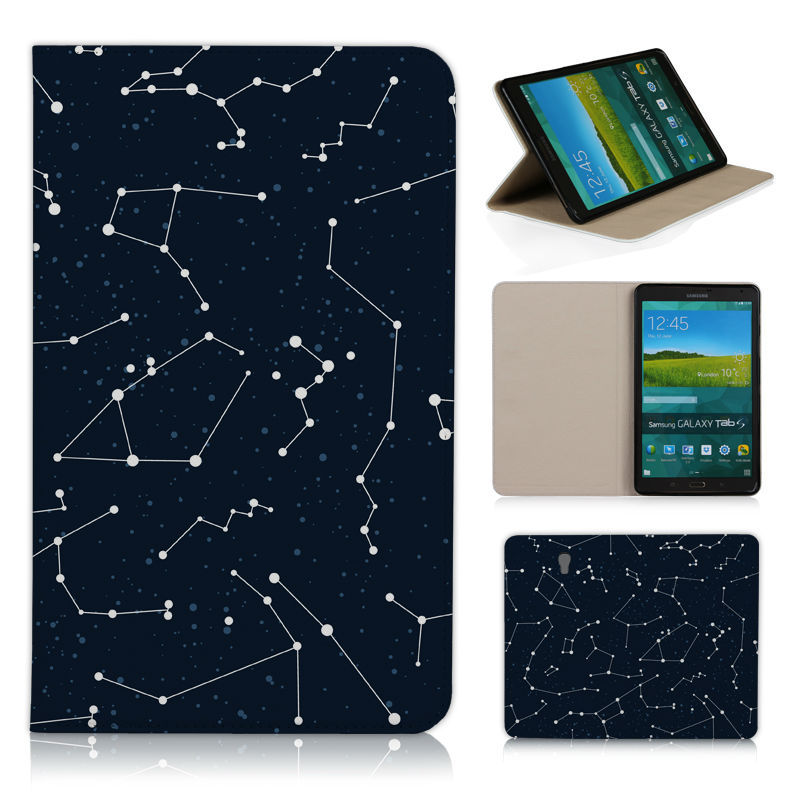 BTD Magic Space with Stars Luxury Print leather case for flip Cover SAMSUNG GALAXY Tab S T700 8.4 inch with Free screen film