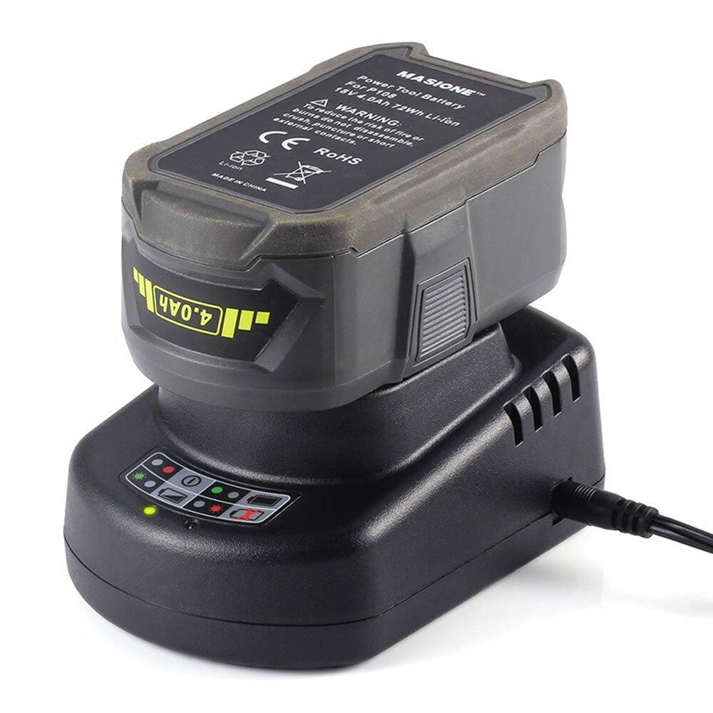 Chargeur de batterie d'outil électrique adapté pour 14.4 V à 18 V Li-Ion et 12 V à 18 V Ni-MH NI-CD RYOBI Batteries rechargeables d'outil électrique