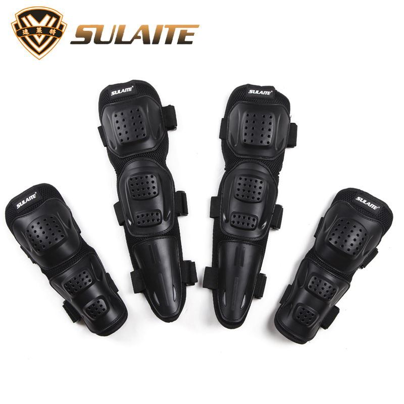 New 4pcs/lots Motorcycle Protective Knee pads + elbow pads Riding Protective Gears Knee Brace Pads Protector Guards knee pads